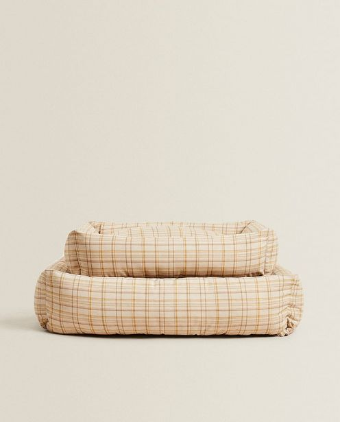 Plaid Pet Bed discount at $109