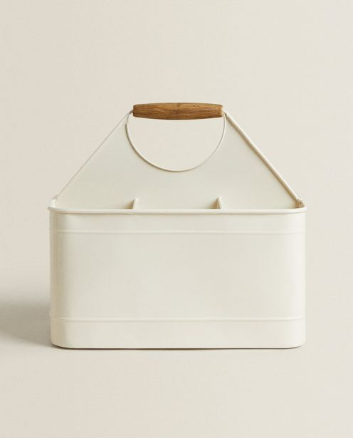 Metal Basket With Wooden Handle discount at $59.9