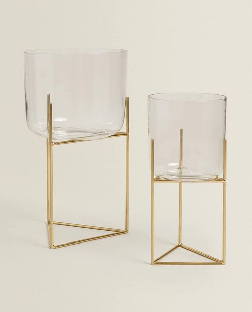 Metal And Glass Flowerpot Stand discount at $99.9
